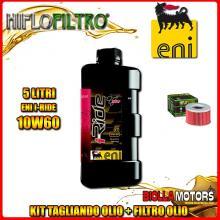 KIT TAGLIANDO 5LT OLIO ENI I-RIDE 10W60 TOP SYNTHETIC HONDA TRX650 FA Fourtrax Rincon 650CC 2003-2005 + FILTRO OLIO HF111