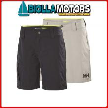 3040932 HH W CARGO SHORTS 853 GREY 46 Shorts HH QD Cargo Donna
