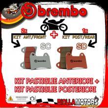 BRPADS-23638 KIT PASTIGLIE FRENO BREMBO KTM SUPERMOTO 2005- 950CC [SC+SD] ANT + POST