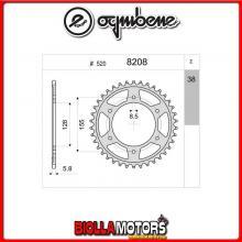 368208338 CORONA TRASMISSIONE 38 PASSO 520 KTM SUPER DUKE 1290 - R - GT 2014-2017 1290CC