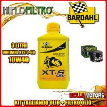 KIT TAGLIANDO 3LT OLIO BARDAHL XTS 10W40 MOTO GUZZI 1000 California II 1000CC 1982-1986 + FILTRO OLIO HF552