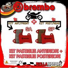 BRPADS-44433 KIT PASTIGLIE FRENO BREMBO EBR SX 2014- 1190CC [SA+SP] ANT + POST