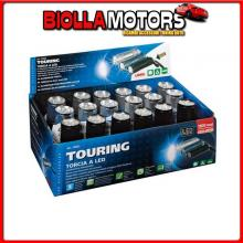 72022D LAMPA TOURING, TORCIA A 9 LED, 1200 MCD - DISPLAY 18 PZ