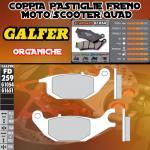 FD259G1054 PASTIGLIE FRENO GALFER ORGANICHE POSTERIORI YAMAHA JUPITER MX T 135 06-