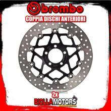 2-78B40899 COPPIA DISCHI FRENO ANTERIORE BREMBO KAWASAKI ZXR 1989-1990 750CC FLOTTANTE