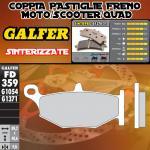 FD359G1371 PASTIGLIE FRENO GALFER SINTERIZZATE POSTERIORI SUZUKI GSX 1300 R HAYABUSA 08-