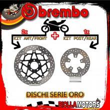 BRDISC-3971 KIT DISCHI FRENO BREMBO KAWASAKI ZX 7 R 1996-2002 750CC [ANTERIORE+POSTERIORE] [FLOTTANTE/FISSO]