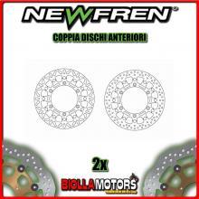 2-DF5264AF COPPIA DISCHI FRENO ANTERIORE NEWFREN TRIUMPH LEGEND TT 885cc 1999-2001 FLOTTANTE