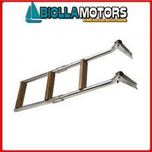 0504504 SCALETTA PIANA 4GR INOX/LEGNO Scalette Inox e Legno con Attacco Piano