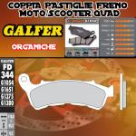 FD344G1054 PASTIGLIE FRENO GALFER ORGANICHE ANTERIORI HONDA XL 700 V TRANSALP IZQ. ABS 08-