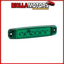 97010 LAMPA LUCE INGOMBRO A 6 LED, MONTAGGIO IN SUPERFICIE,12/24V - VERDE