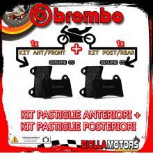 BRPADS-51809 KIT PASTIGLIE FRENO BREMBO CCM RS 2001- 600CC [GENUINE+GENUINE] ANT + POST