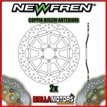 2-DF5214AF COPPIA DISCHI FRENO ANTERIORE NEWFREN DUCATI 748cc R 2001-2002 FLOTTANTE