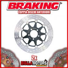 2-STX05 COPPIA DISCHI FRENO ANTERIORE DX + SX BRAKING INDIAN ROADMASTER ABS 1811cc 2015-2016 FLOTTANTE