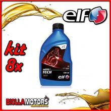 KIT 8X LITRO OLIO ELF MOTO TECH 10W50 100% SINTETICO - 8x 201736
