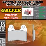 FD223G1805 PASTIGLIE FRENO GALFER PREMIUM POSTERIORI AJP PR 4 125 ENDURO 05-09
