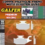 FD315G1651 PASTIGLIE FRENO GALFER PREMIUM POSTERIORI CAN-AM OUTLANDER 800 MAX STD/XT DER./RIGHT 07-