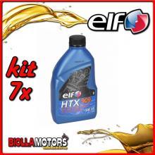 KIT 7X LITRO OLIO ELF HTX 909 2T MISCELA - 7x 155877