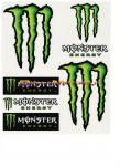 9151 Adesivo Monster Energy 6pz Giganti 19x24 cm