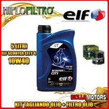 KIT TAGLIANDO 5LT OLIO ELF CITY 10W40 TRIUMPH 955 Tiger 955CC 2001-2004 + FILTRO OLIO HF191