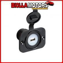 39006 LAMPA EXT-7, PRESA USB, MONTAGGIO AD INCASSO, 12/24V