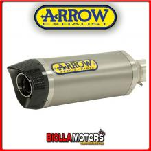 51507PK+51008MI TERMINALE ARROW STREET THUNDER KEEWAY RKV 125 2011-2015 TITANIO/CARBONIO + COLLETTORE RACING