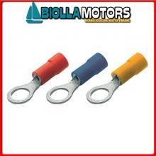 2154505 100X TERMINALE TUBO M10x35MM2 Capicorda Occhielli Preisolati
