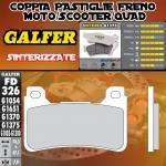 .FD326G1375 PASTIGLIE FRENO GALFER SINTERIZZATE ANTERIORI HONDA CBR 1000 RR FIREBLADE C-ABS 09-