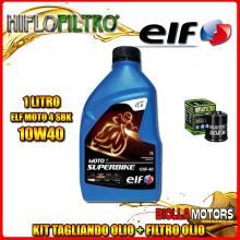 KIT TAGLIANDO 1LT OLIO ELF MOTO 4 SBK 10W40 GILERA 125 DNA 125CC 2001-2003 + FILTRO OLIO HF183