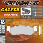 FD214G1054 PASTIGLIE FRENO GALFER ORGANICHE POSTERIORI ALPINA RENANIA VERONA 125 06-