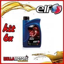 KIT 6X LITRO OLIO ELF MOTO 2 RACE SINTETICO - 6x 201733