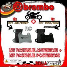 BRPADS-55550 KIT PASTIGLIE FRENO BREMBO MONDIAL PIEGA 2002- 1000CC [RC+GENUINE] ANT + POST