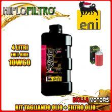 KIT TAGLIANDO 4LT OLIO ENI I-RIDE 10W60 TOP SYNTHETIC MV AGUSTA MV Agusta 920 Brutale 920CC 2012- + FILTRO OLIO HF567