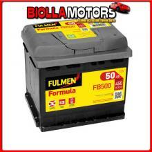 EXFB500 FULMEN BATTERIA 12V - FULMEN FORMULA - 50 AH - 450 A ABARTH 500 / 595 (312_) (08/08>)