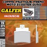 FD275G1054 PASTIGLIE FRENO GALFER ORGANICHE ANTERIORI DAELIM S3 250 Fi ADVANCE 12-
