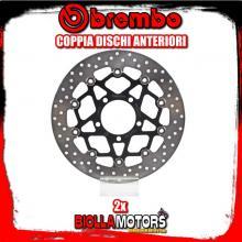 2-78B40861 COPPIA DISCHI FRENO ANTERIORE BREMBO KAWASAKI ZX-6R ABS 2013- 636CC FLOTTANTE