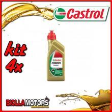 KIT 4X LITRO OLIO CASTROL POWER 1 SCOOTER 4T 5W40 - 4x CA154F88