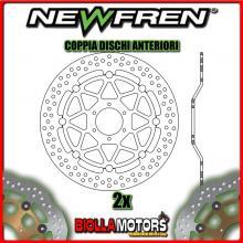2-DF5139AF COPPIA DISCHI FRENO ANTERIORE NEWFREN HONDA CB 600cc F HORNET 2005-2006 FLOTTANTE
