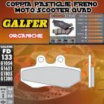 FD133G1054 PASTIGLIE FRENO GALFER ORGANICHE ANTERIORI DERBI GPR 50 R 97-03
