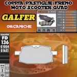 FD136G1054 PASTIGLIE FRENO GALFER ORGANICHE ANTERIORI ADLY ROAD RACER 100 04-