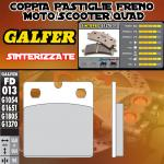 FD013G1370 PASTIGLIE FRENO GALFER SINTERIZZATE POSTERIORI INDIAN MOTORCYCLE CHIEF BLACKHAWK DARK 11-