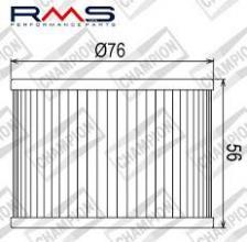 100609535 COF301 FILTRO OLIO HONDA CB550 F1,F2,K3,K4 (4 Cylinders) 75-80 (X303 - X315)