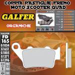 FD165G1054 PASTIGLIE FRENO GALFER ORGANICHE POSTERIORI BENELLI 570 SUPERMOTO 08-