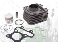403390290 GRUPPO TERMICO CILINDRO MANDELLI BCR ALLUMINIO D.42mm - 50cc - SCARABEO 50 4T - VESPA LX 4T 50 a 2 VALVOLE (R.O. 9696