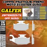 FD318G1397 PASTIGLIE FRENO GALFER SINTERIZZATE ANTERIORI CAN-AM OUTLANDER 800 MAX STD/XT DER./RIGHT 07-