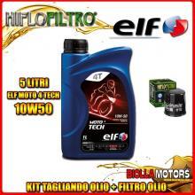KIT TAGLIANDO 5LT OLIO ELF MOTO TECH 10W50 KAWASAKI ZZR1400 ZX1400 1400CC 2006-2011 + FILTRO OLIO HF303