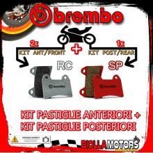 BRPADS-43584 KIT PASTIGLIE FRENO BREMBO KTM SUPERMOTO 2005- 950CC [RC+SP] ANT + POST