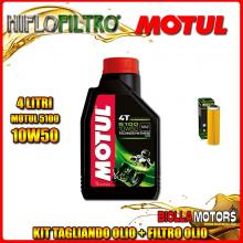 KIT TAGLIANDO 4LT OLIO MOTUL 5100 10W50 KTM 1050 Adventure 1050CC 2015-2016 + FILTRO OLIO HF650