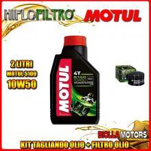 KIT TAGLIANDO 2LT OLIO MOTUL 5100 10W50 GILERA 500 Fuoco / LT 500CC 2007-2015 + FILTRO OLIO HF184