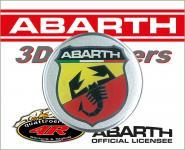 21544 ADESIVO 3D STICKERS STEMMA ABARTH D. 44MM